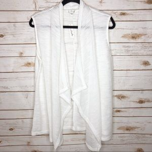Charming Charlie ivory white waterfall vest NWT